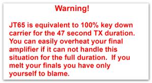 jt65 warning