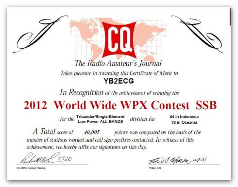 cq wpx 2012 tribander
