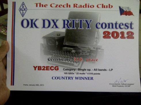.......it's OK! OK DX RTTY contest 2012