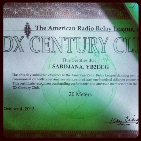 DXCC 20M